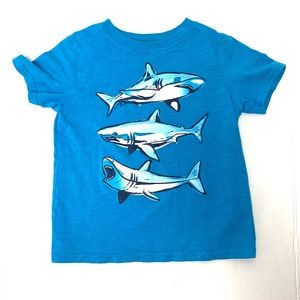 Blue Short Sleeve Shark Shirt